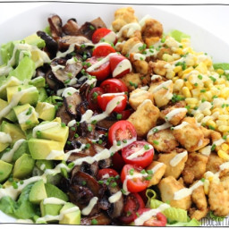 Vegan Cobb Salad with Blue Cheese Dressing