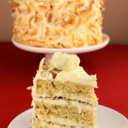 Vegan Coconut Almond Cake (Raffaello)