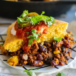 Vegan Cornbread Chili Pie Recipe