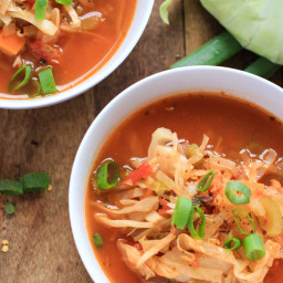 Vegan Detox Cabbage Tomato Soup