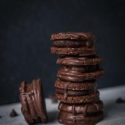 Vegan Double Chocolate Hazelnut Cookies