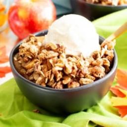 Vegan Gluten Free Cinnamon Apple Crisp with Oats (Dairy-Free, GF, Easy)