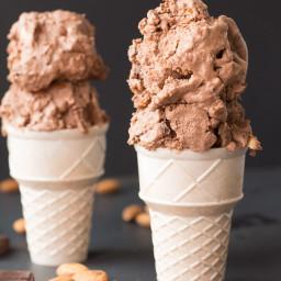 Vegan Heavenly Hash Ice Cream
