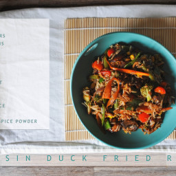 Vegan Hoisin Duck Fried Rice