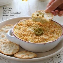 Vegan Jalapeno Popper Dip and Havarti Dip - Glutenfree Recipe Raw option