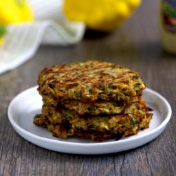Vegan Keto Mustard Dill Zucchini Cakes (gluten-free, coconut-free, nut-free