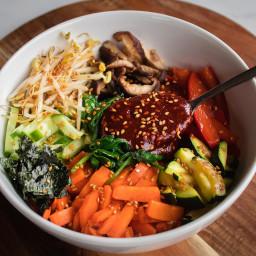 Vegan Korean bibimbap | Vegan Recipe