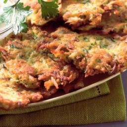 Vegan Latkes with Onion and Fresh Parsley
