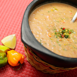 Vegan: Lentil and Coconut Soup with Cilantro-Habanero Gremolata