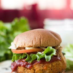 Vegan Meatloaf Burgers