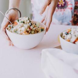 Vegan Mediterranean Salad with Quinoa Salad Dressing