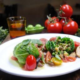 Vegan Mixed Bean Raviolo