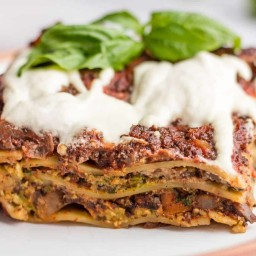 Vegan Mushroom Lasagna {No Tofu}