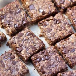 Vegan Oatmeal Chocolate Chip Cookie Bars [flourless]