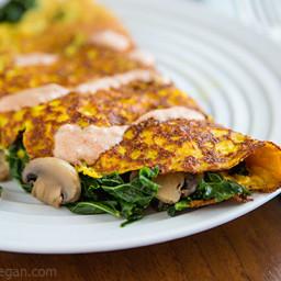 Vegan Omelette for One