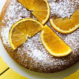 Vegan Orange Almond Olive Oil Cake