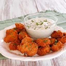 Vegan Panko Fried Mushrooms