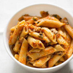 Vegan Penne Rigate Mushroom Bolognese