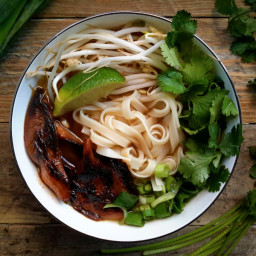Vegan Pho with Smoky Marinated Mushrooms