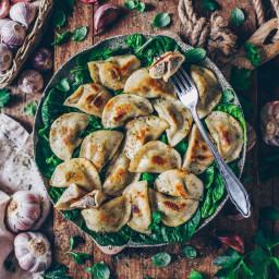 Vegan Pierogi with Mushroom Filling (polish pasta dumplings)