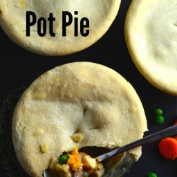 Vegan Pot Pies With White Wine Gravy and Olive Oil Crust