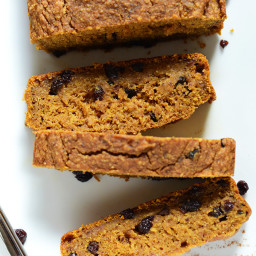 Vegan Pumpkin Currant Bread