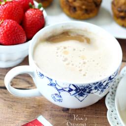 Vegan Pumpkin Spice Tea Latte