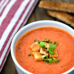 Vegan Roasted Bell Pepper Soup