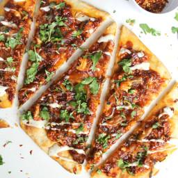 Vegan Roasted Cauliflower BBQ Pizza
