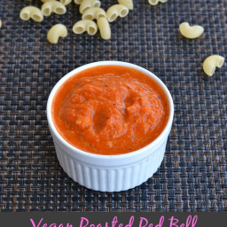 Vegan Roasted Red Bell Pepper Sauce Recipe