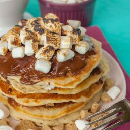 Vegan S'mores Pancakes