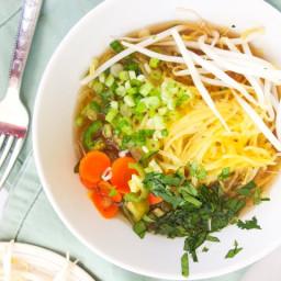 Vegan Spaghetti Squash Pho (Vietnamese Noodle Soup)