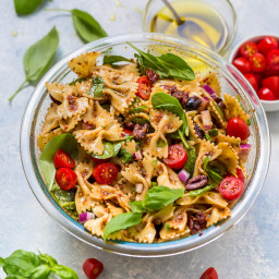 Vegan Spinach and Sun-Dried Tomato Pasta Salad