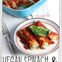 Vegan Spinach & Ricotta Cannelloni