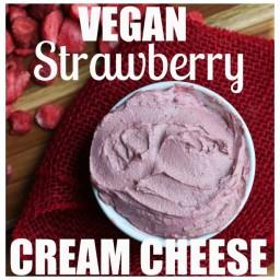 Vegan Strawberry Cream Cheese