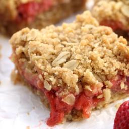 Vegan Strawberry Oat Bars!