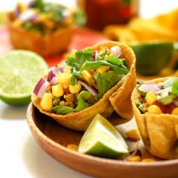 Vegan Taco Salad Cups