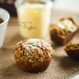 Vegan Vanilla Chai Protein Muffins