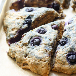Vegan Whole Wheat Blueberry Scones
