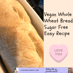 Vegan Whole Wheat Bread Sugar Free Easy Recipe