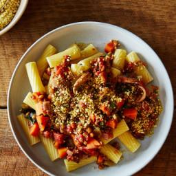 Vegan Lentil Bolognese with Cashew Parmesan