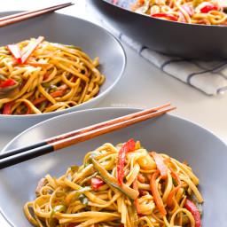 Vegan Stir Fried Udon Noodles