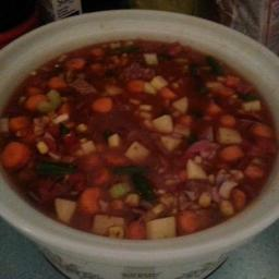 Vegetable Beef Soup (Crockpot)