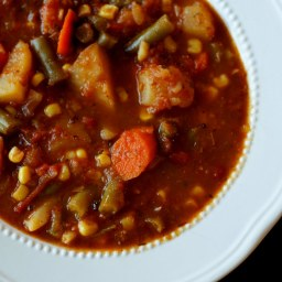Vegetable Beef Soup with Orzo
