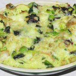 Vegetable Bread Pudding