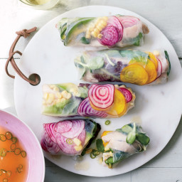 Vegetable-Chicken Summer Rolls