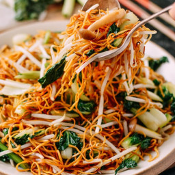 Vegetable Chow Mein Noodles: Hong Kong Cantonese Style