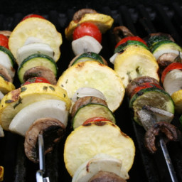Vegetable Kabobs With Seasoned Butter Sauce