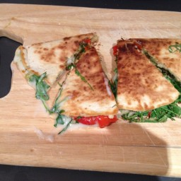 Vegetable quesadilla with goats cheese