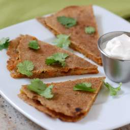 Vegetable Quesadillas on Whole-Wheat Tortillas